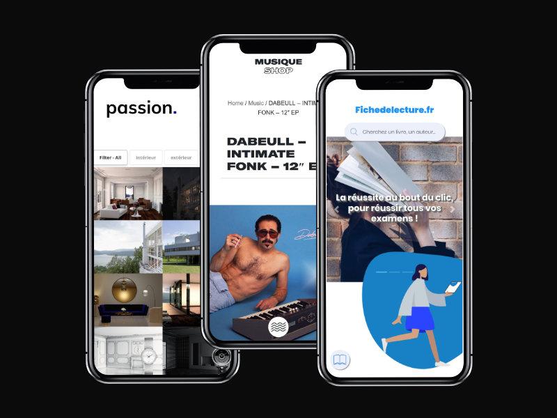 Réalisations web sur mobile