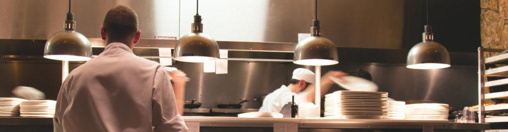 Une cuisine de restaurant
