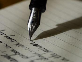 Alignement de texte avec stylo plume